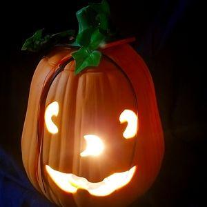 Autumn/Halloween Electric Lightup Pumpkin/ Ceramic